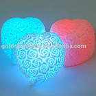 led 7 colour heart-shaped rose lamp