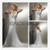 White Sheath Halter Chiffon Appliqued Floor-length Evening Dress