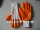 yellow colormechanic nitrile coated working gloves DQ03
