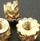 all threaded brass Nut
