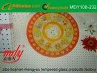 "12"" Round Constellation Glass Swivel Plate"