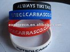 Debossed customized silicone rubber bracelets