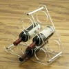 Novelty acrylic wine holder in triangle shape