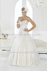 Elegant Sweetheart Gown with Drop Waist Dimension Lace with Heavy Crystal Embellishment Full Cut Tulle Bridal Wedding Dress