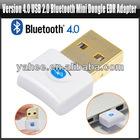 New Version 4.0 USB Bluetooth Mini Dongle Adapter EDR for Windows 7 64 32 XP, YAN412A