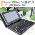 "7"" Case + USB Keyboard + Stylus Pen For MID Tablet Android PC"