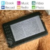 7 inch ebook reader with 4 GB memory/Card Slot/Support Music,Video,Radio,Record,Photo