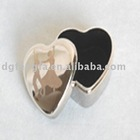 Heart-shaped Silver Ring Box