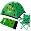 Camping Tent with Sleeping Bag and Beach Chair