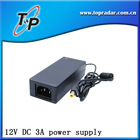 12V DC 3A Power supply ( 5.5mm outer diameter 2.1mm or 2.5mm inner diameter plug size)