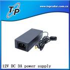 12V DC 3A Power supply ( 5.5mm outer diameter 2.1mm or 2.5mm inner diameter plug size)