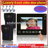 Wholesales 9 inch touch key handsfree LCD color wired doorbell with video