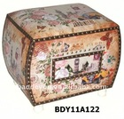 Wooden Leather-covered Home Decorative container-chair