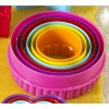Colourful 6 Round Cookies Cutter Set