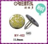 brass cap rivet with sprayed pretty yellow color for fashion garments