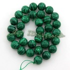 new wholesale and hot sale 12mm Green round loose Gemstones Turquoise Beads for bracelet or necklace making110579