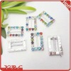 Colorful Wedding Rhinestone Belt Buckle Ribbion Slider