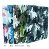 for ipad 3 & ipad 2 floding design leather case camouflage pattern