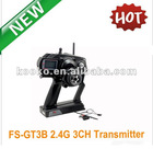 2012 Best selling in Europe -FS-GT3B 2.4G 3CH Transmitter for RC Car Truck 2.4GHZ