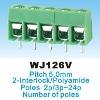 PCB Screw Electrical Terminal Block_5.0mm_WJ126 300V