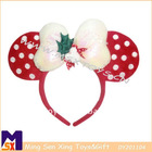 red super soft embroidery MK fashionable hairband headband