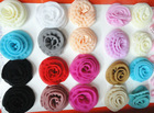 chiffon hair flower accessory parts