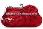 South Korea yarn handbag flower adornment glamour stamping satin evening bag