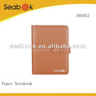 Brown Covered Personal Organizer Recycled Paper Notebook