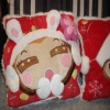 Delicated design plush X'mas hand warmer, plush cushion pillow