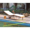 Outdoor adjustable Burma Teak Stainless Steel Lounger SBM001