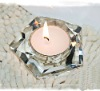 Pentagon Wedding Crystal Tea Light Holder