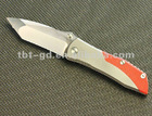 AUS-8 Folding Pocket Knife with Aluminum and G10 Handle