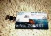 2012 passage ticket of Noah's Ark USB Card