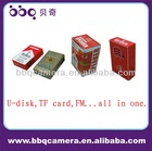 factory wholesale portable cigarette box speaker with TF/FM