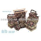 2012 fashion Velvet fabric sewing kit basket(13421)