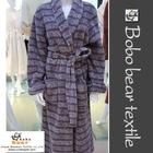 Printed lavender mens bathrobe
