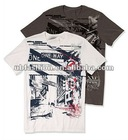big print on chest wirh short sleeve boys t shirt