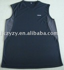 man's fashion cool gray sports vest and tops interlock
