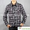 Cotton Long Sleeve Check Man Shirt