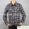 Cotton Long Sleeve Check Man Shirt