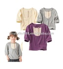 new fashion hot saling pure cotton lantern sleeve bambina jacket