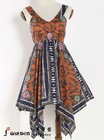 2012 Newest design deep v-neck irregular dress