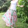 100% Cotton Women Fashion Long Beach Skirt