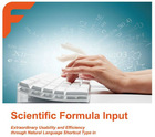 Scientific Formula Input
