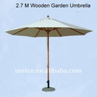 Wooden Garden Umbrella 2.7M