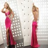 2012 Popular Beaded Sexy Back Open Evening Dress (abh437)