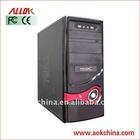 Hot-sale Black Horizontal Desktop ATX Computer PC Case