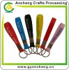 Silicone rubber wristband bracelet keychains promotional products