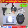 Digital Peephole Viewer with Door bell, 2.8 inch touch LCD Screen, Clear image&Wide angle, Night vision, Digital Door Viewer