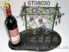 wine and glasses display rack